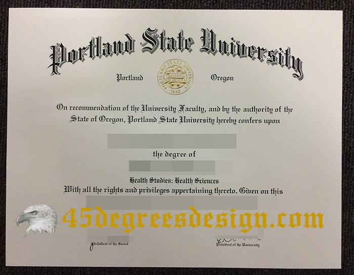Portland State University diploma