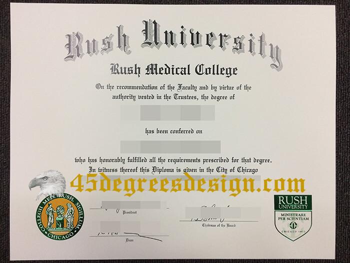fake Rush University diploma