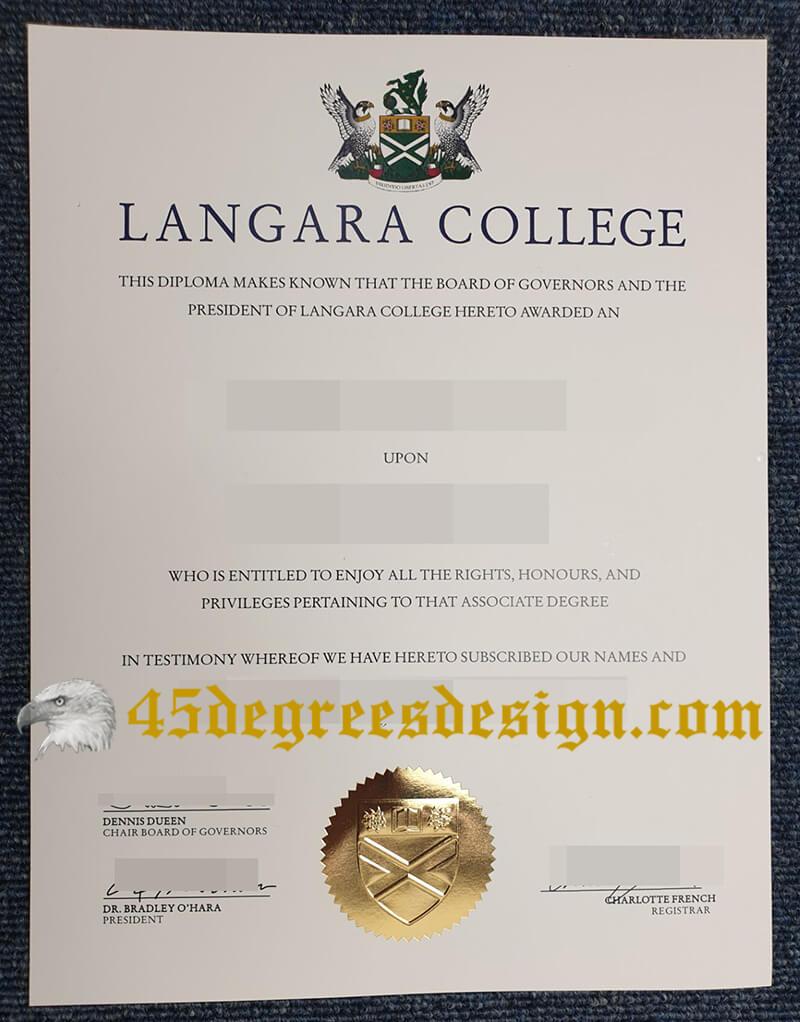 Langara College diploma