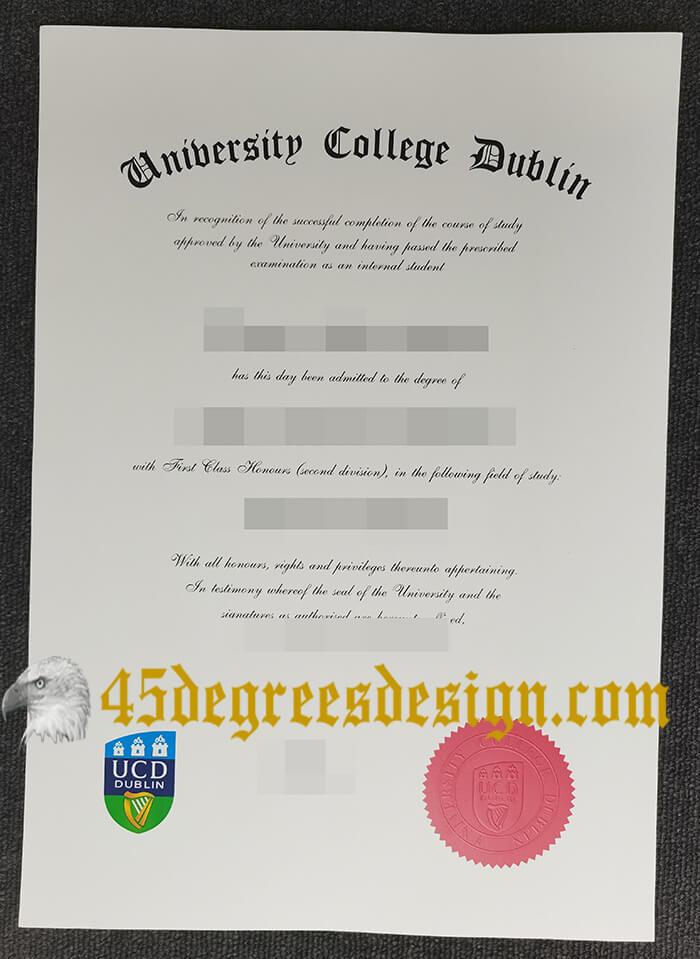 University College Dublin diploma