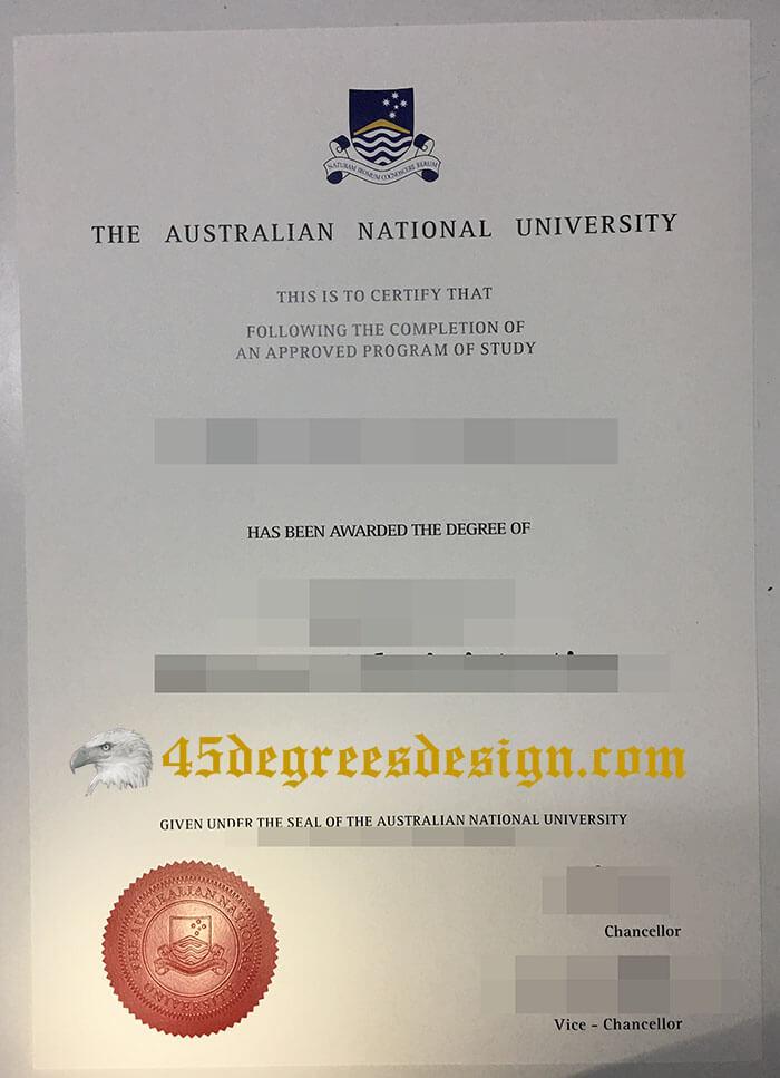 Australian National University diploma
