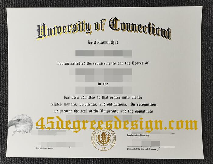 University of Connecticut (UConn) diploma