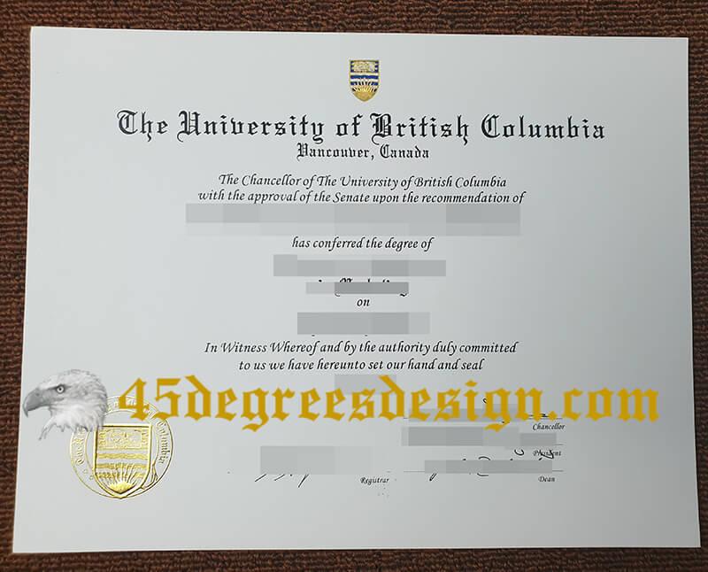 University of British Columbia degree