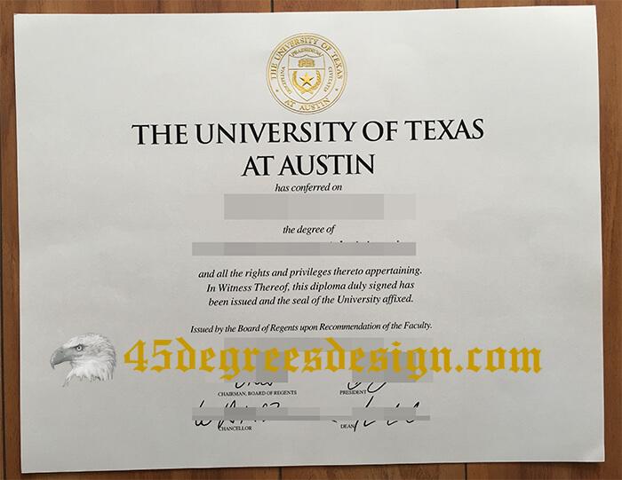 UT Austin  diploma