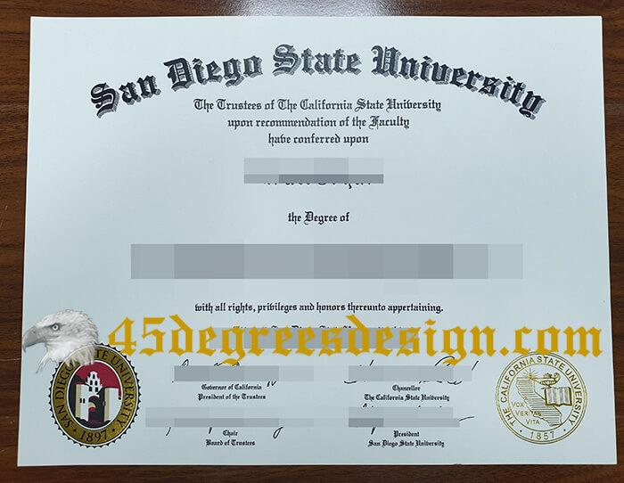 SDSU diploma