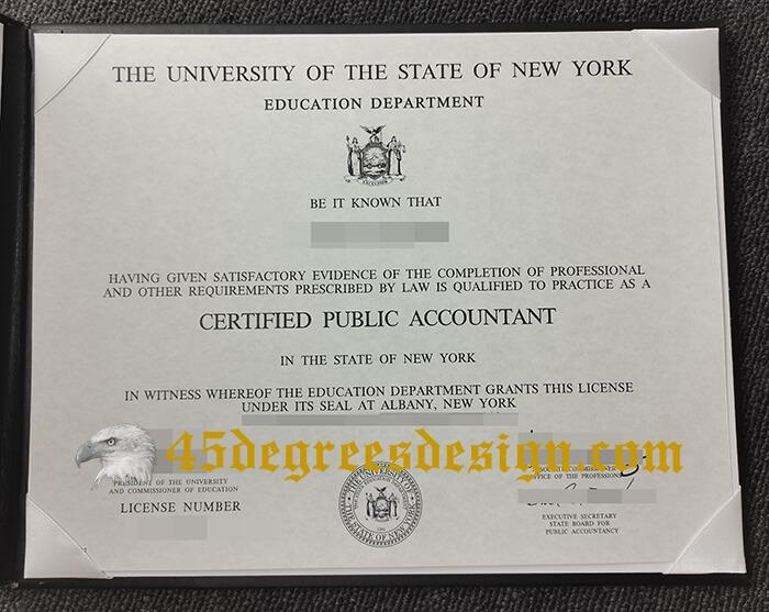 New York CPA Certificate