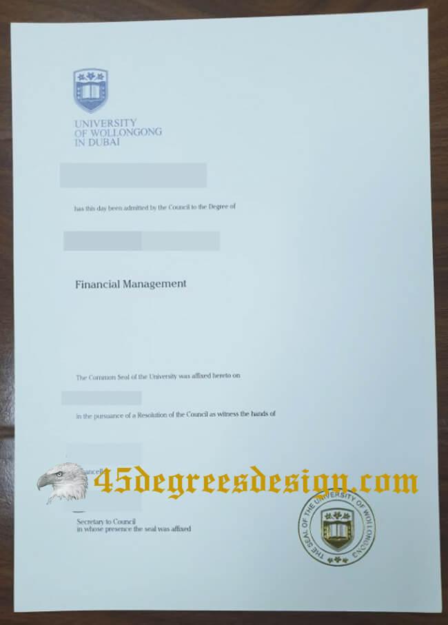 University of Wollongong in Dubai diploma