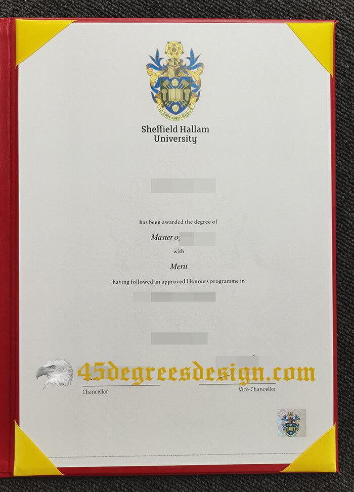 Sheffield Hallam University (SHU) diploma