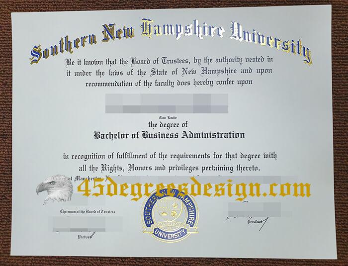 Southern New Hampshire University diploma