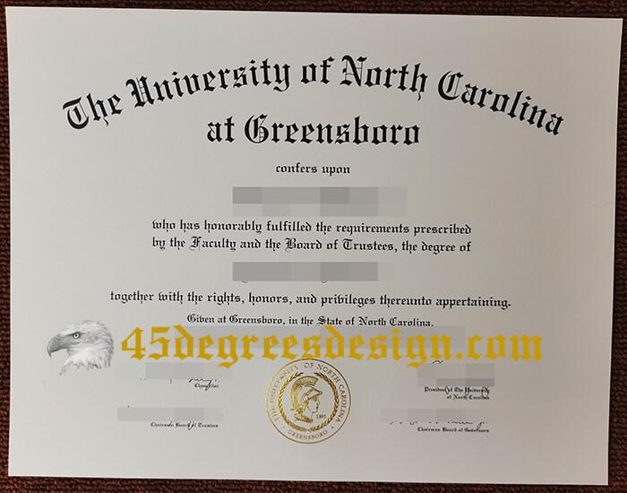 UNCG diploma