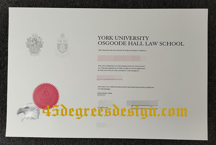 Osgoode Hall Law School diploma