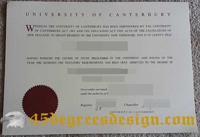 University of Canterbury diploma