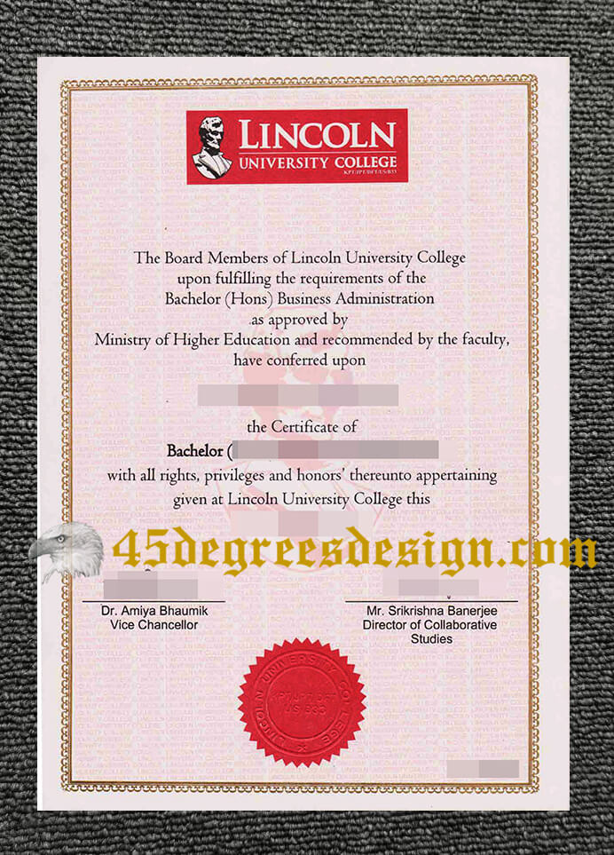 Lincoln University College diploma