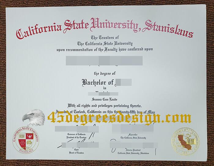 California State University Stanislaus diploma