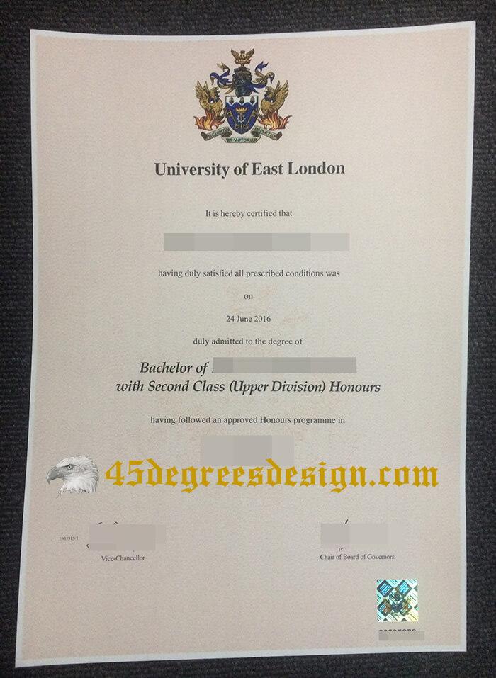 University of East London degree