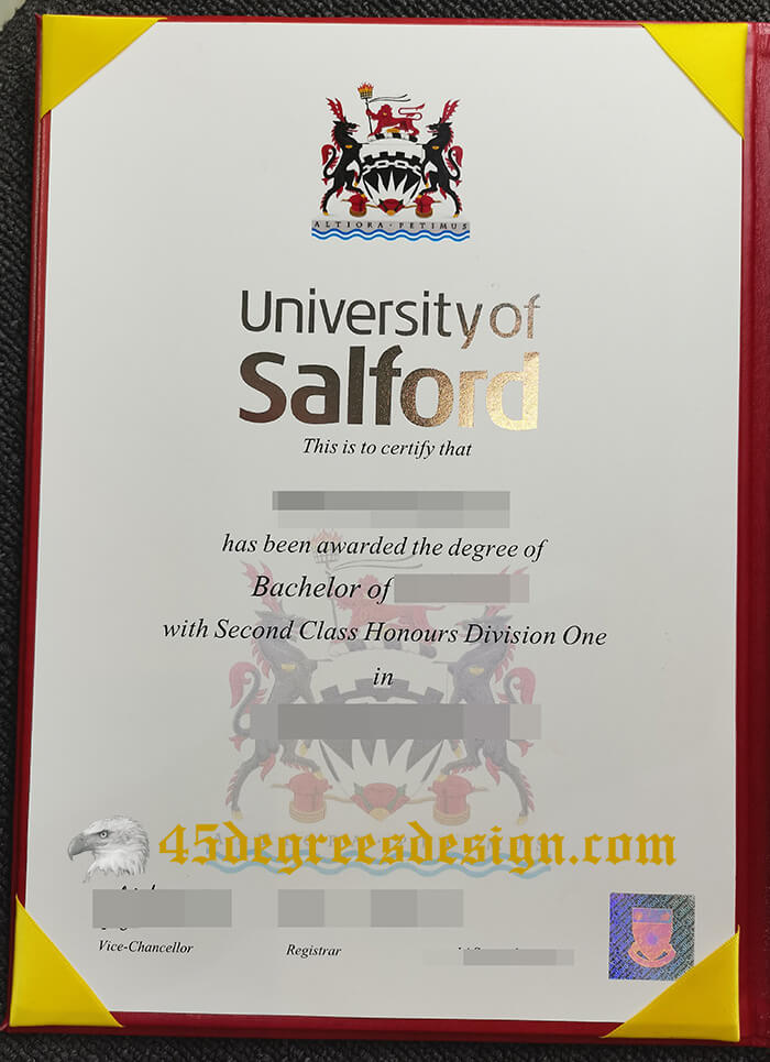 University of Salford bachelor degree