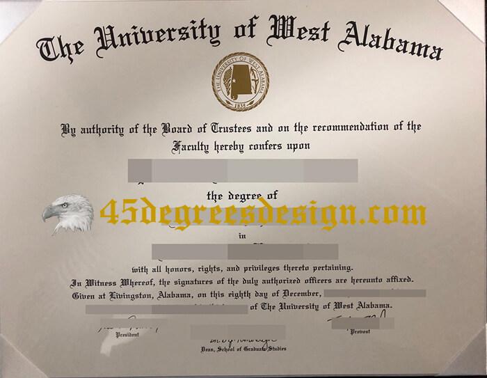 University of West Alabama diploma