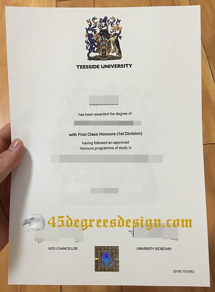 Teesside University degree