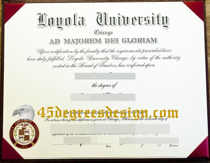 Loyola University Chicago diploma