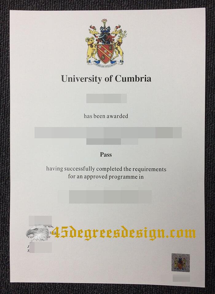 University of Cumbria degree