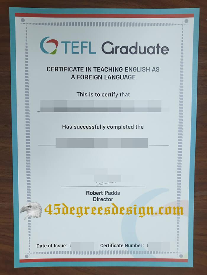 TEFL graduate certificate