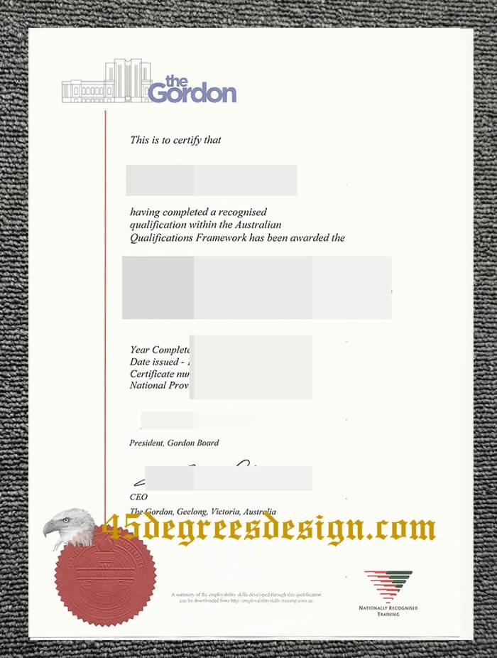 Gordon Institute of TAFE diploma