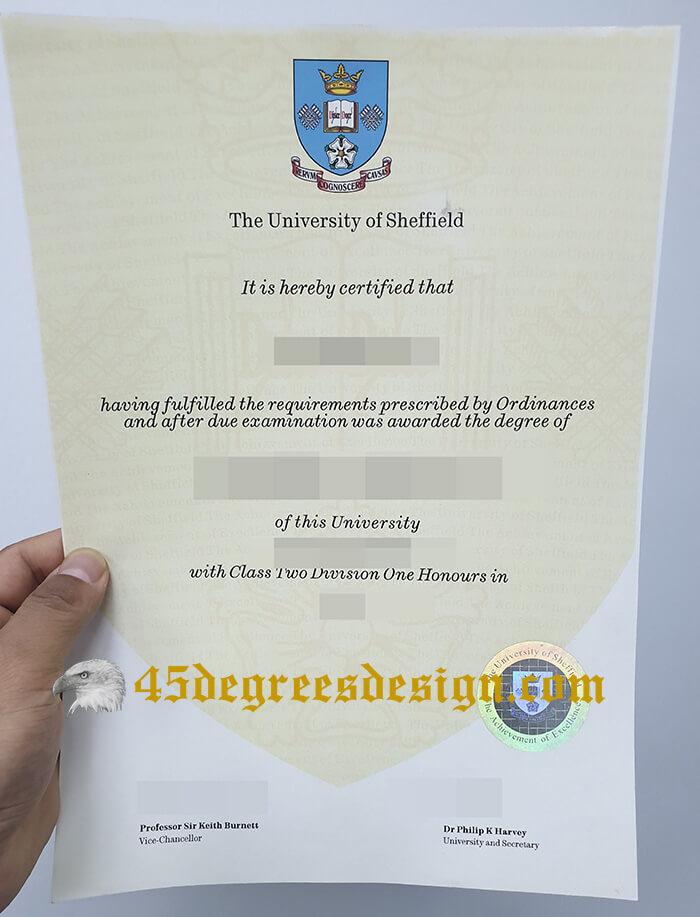 University of Sheffield degree