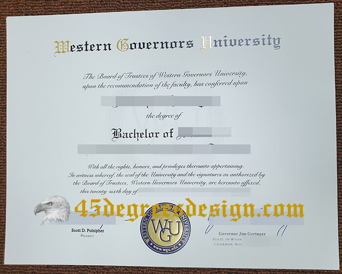 Western Governors University diploma
