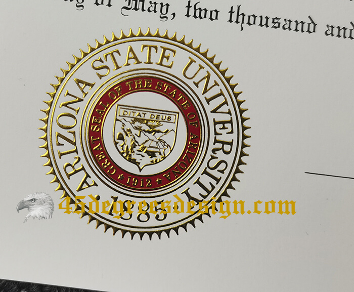 Arizona State University diploma stamp