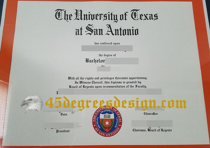 UTSA diploma