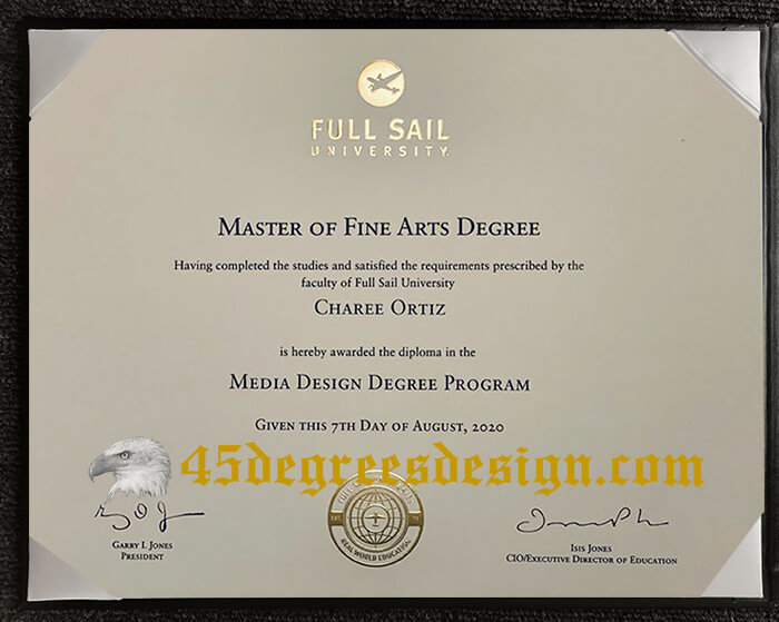 Full Sail University diploma
