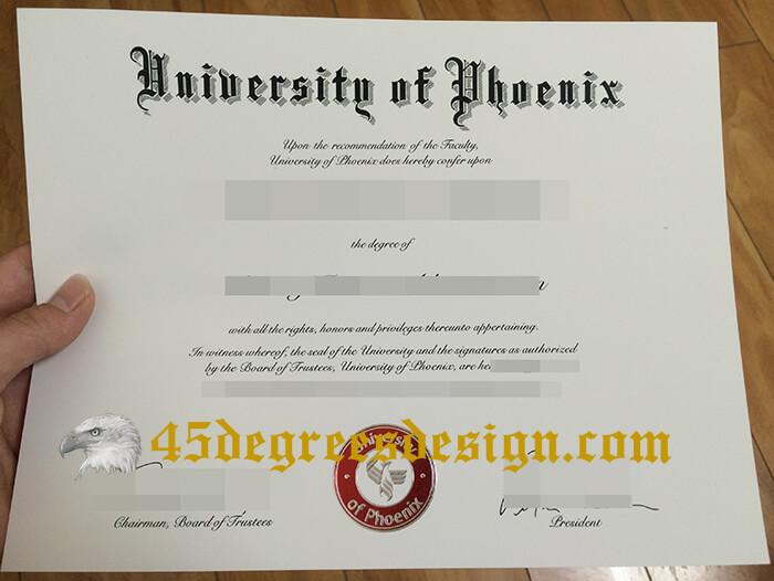 University of Phoenix diploma