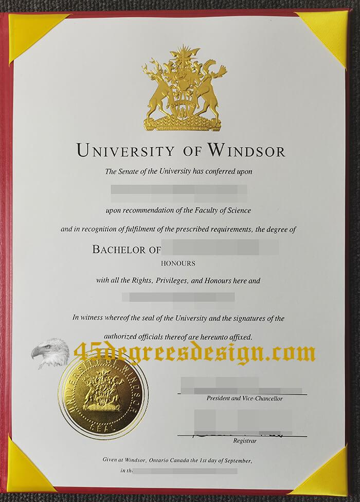 University of Windsor bachelor diploma
