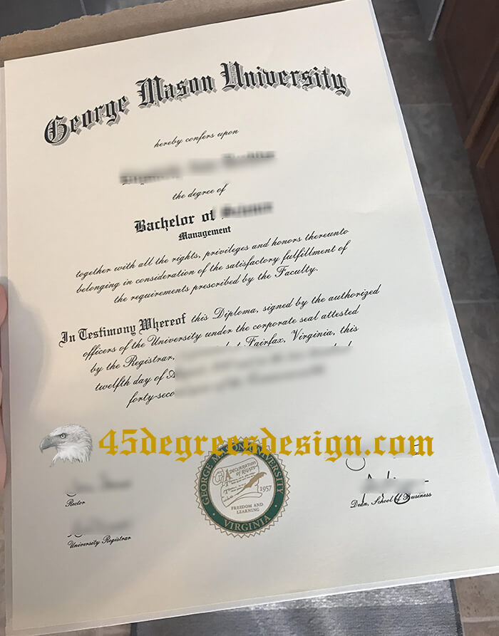 Purchase a fake George Mason University diploma, fake GMU dergee maker