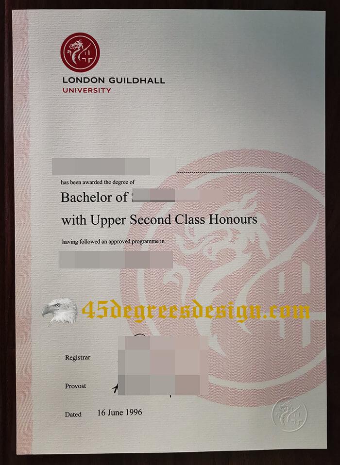 Fake London Guildhall University Diploma