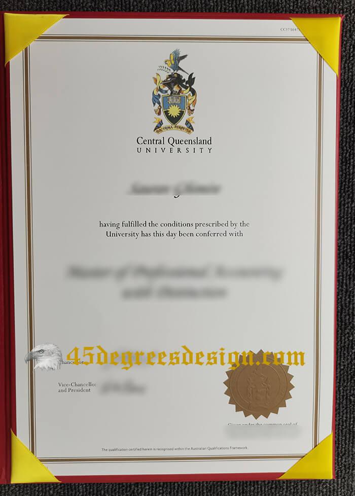 Central Queensland University degree