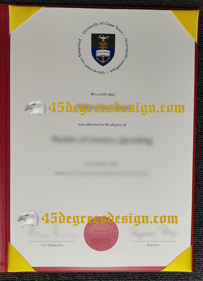 copy a fake University of Cape Town diploma