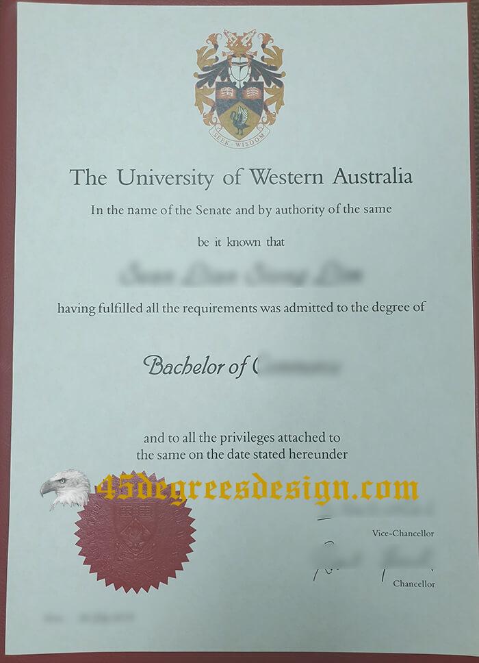 buy University of Western Australia diploma