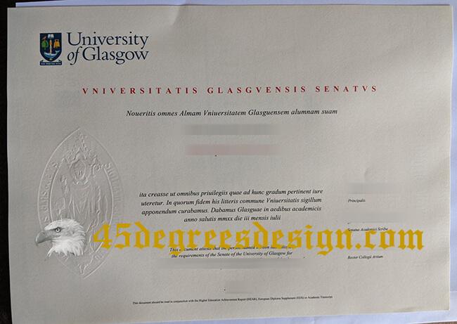 copy a fake University of Glasgow degree