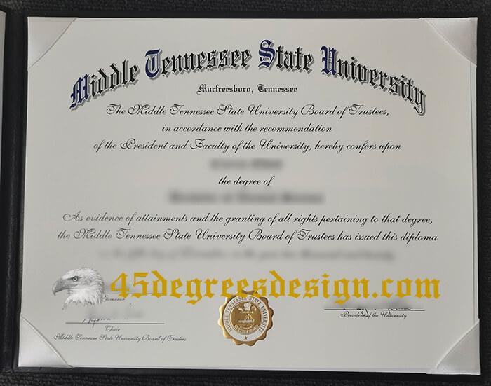 MTSU diploma