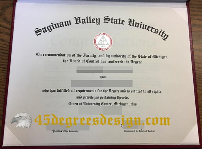 Saginaw Valley State University diploma