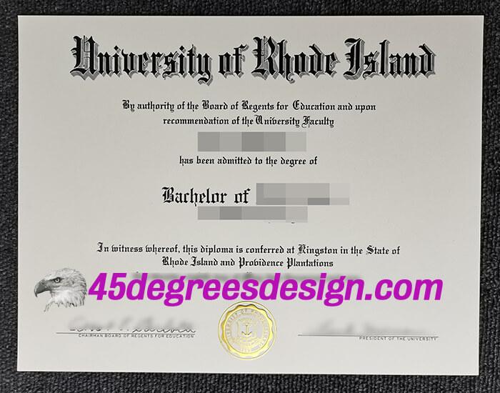 University of Rhode Island diploma
