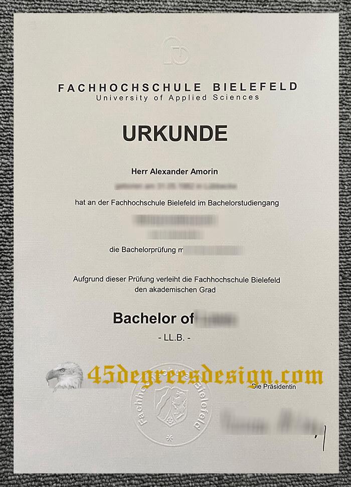 Order a fake Fachhochschule Bielefeld urkunde