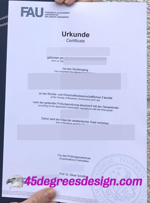 Friedrich–Alexander University Erlangen–Nürnberg diploma