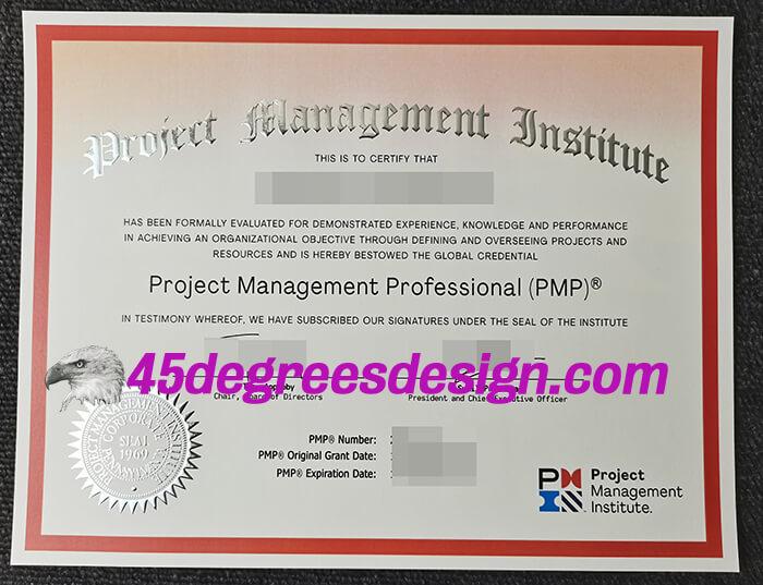 PMP Certificate 2021 Version