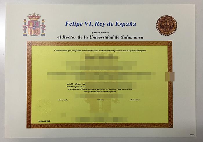 University of Salamanca diploma