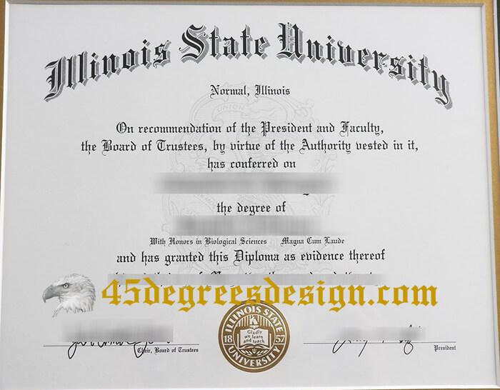 Illinois State University (ISU) diploma