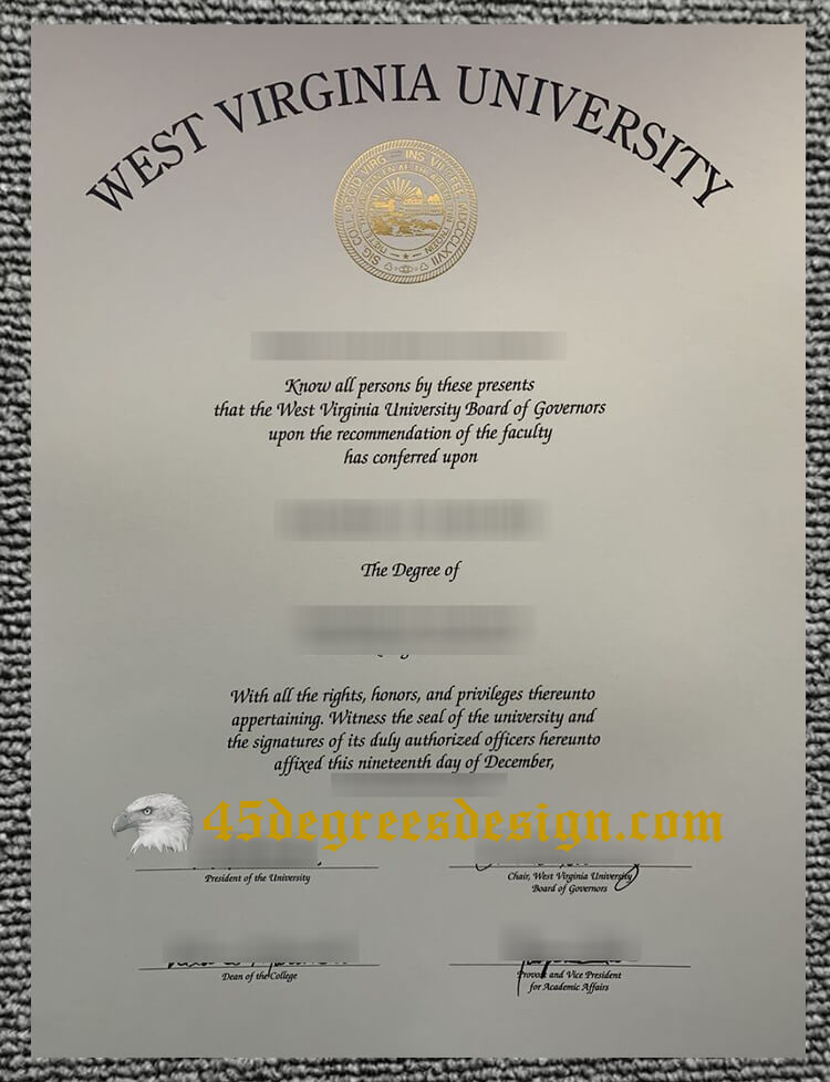West Virginia University diploma