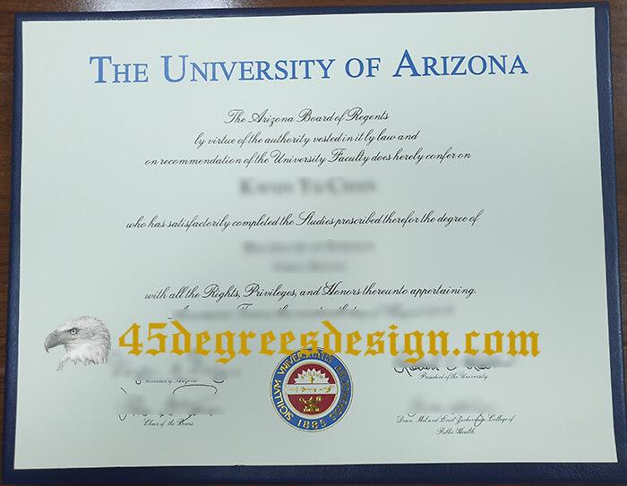 University of Arizona diploma