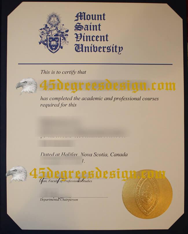 Mount Saint Vincent University diploma